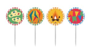 Topper/Pick Para Doces Festa Junina C/8 | Junco