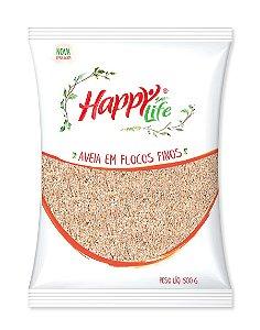Aveia Em Flocos Finos Happy Life 500g