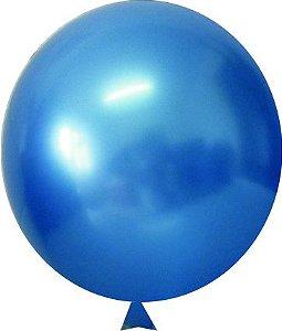 Balão/Bexiga Happy Day Cromado Alumínio N5'' C/25