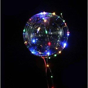 Balão Transparente 25cm C/ LED
