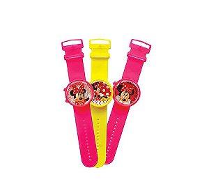 Relógio Minnie Unitário | Cores Variadas