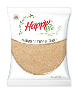 Farinha de Trigo Integral 1kg Happy Life