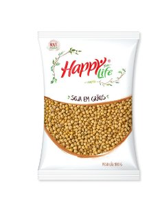 Soja Em Grão 500g Happy Life