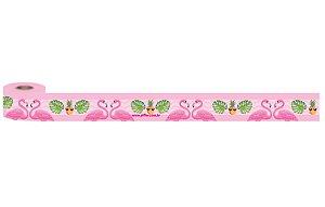 Fita de Cetim 5m x 25mm Flamingo