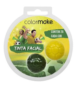 Tinta Facial Blush Cremoso Verde e Amarelo | Color Make
