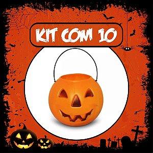 Balde Abóbora Halloween Grande | Kit Laranja C/10