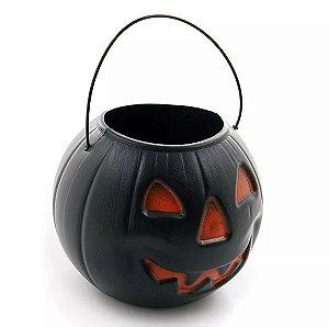 Balde Abóbora Halloween Grande | Kit Preto C/10