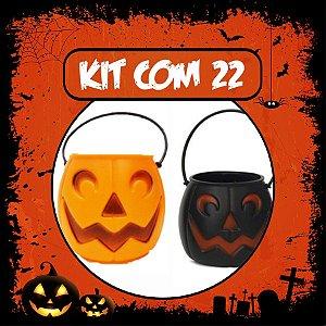 Balde Abóbora Halloween Pequeno | Kit Misto C/22