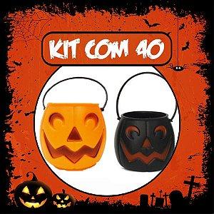 Balde Abóbora Halloween Pequeno | Kit Misto C/40