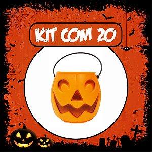 Balde Abóbora Halloween Pequeno | Kit Laranja C/20