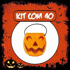 Balde Abóbora Halloween Pequeno | Kit Laranja C/40