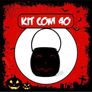 Balde Abóbora Halloween Pequeno | Kit Preto C/40