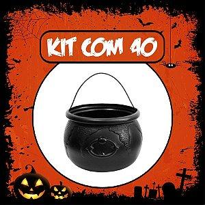 Balde Caldeirão Halloween Pequeno | Kit C/40