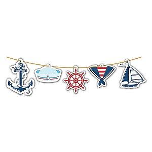 Faixa Decorativa Varalzinho Marinheiro C/5 Peças | Junco