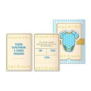 Convite Chá de Bebê Menino C/08 | Junco