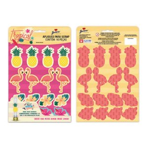Apliques para Scrap Flamingo C/12 | Junco