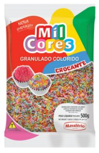 Granulado Crocante Colorido 500g | Mavalério