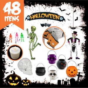 Kit Decorativo Festa Dia das Bruxas / Halloween