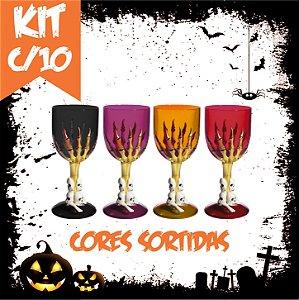 Kit Taça Halloween Grande | Cores Sortidas | C/10