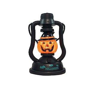 Mini Lanterna Abóbora Halloween Com Luz