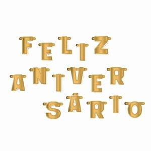 Faixa Feliz Aniversário Ouro e Prata | Ultrafest