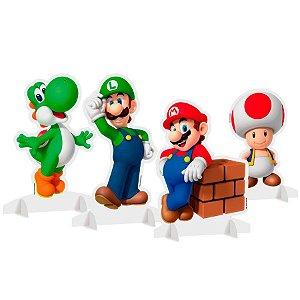 Enfeite de Mesa Decorativo Super Mario C/4
