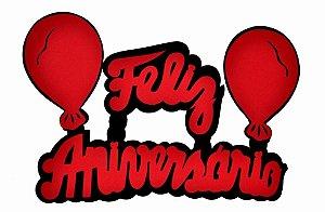 Faixa Decorativa Feliz Aniversário com Balões E.V.A.