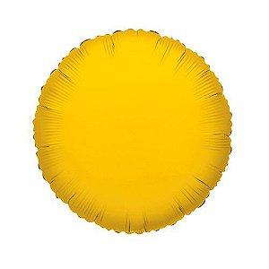 Balão Decorador Metalizado Standard Circulo Dourado
