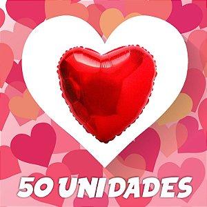 50un. Balão Coração Metalizado | Diversas Cores