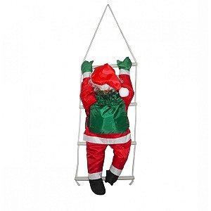 Enfeite Grande Papai Noel Na Escada