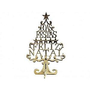 Enfeite Árvore de Natal Boas Festas 17,5cm