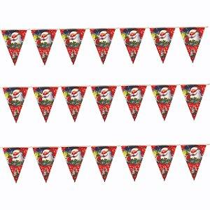 Bandeirinha de Natal Estampada 2,5m