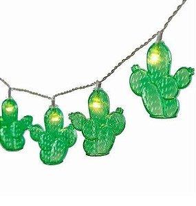 Cordão Luminária Decorativa LED Cacto 2m