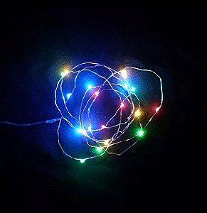 Pisca Pisca Colorido Micro LED 20 Lâmpadas