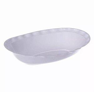 Pote Oval Quality Line Branco 300ml  C/10