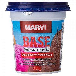 Pó P/ Sorvete e Sobremesa Morango Tropical 100g Marvi