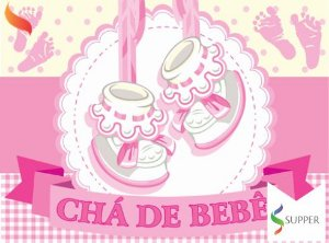 Painel Grande de TNT | Chá de Bebê Menina