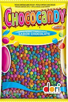 Confete Colorido Chococandy 500g | Kit com 10