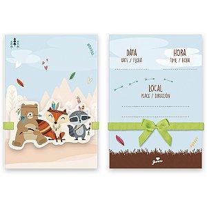 Convite Animais Na Floresta C/8 | Junco