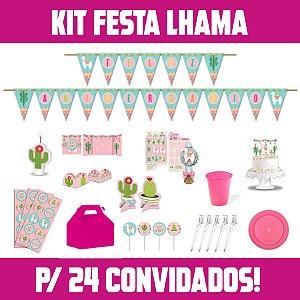 Kit Festa Completa Lhama | Para 24 Convidados