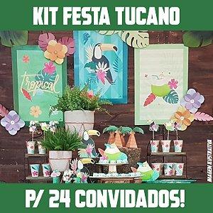 Kit Festa Completa Tucano | Para 24 Convidados