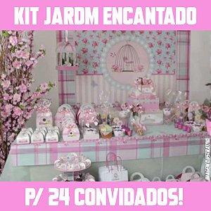 Kit Festa Completa Jardim Encantado | Para 24 Convidados