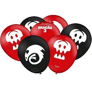 Bexiga/Balão Como Treinar Seu Dragão 3 N9 | C/25