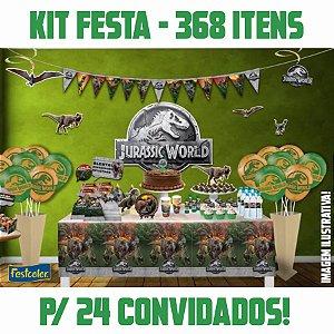 Kit Festa Completa Jurassic World | Para 24 Convidados