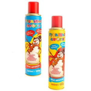 Espuma Branca Spray P/ Carnaval e Festas 350ml | Kit C/10
