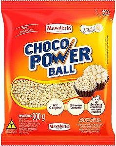 Choco Power Ball Mini Branco 300Gr | Mavalério
