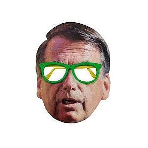 Máscara de Papel Bolsonaro Com Óculos