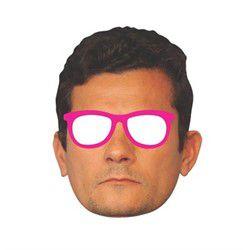 Máscara de Papel Sérgio Moro Com Óculos
