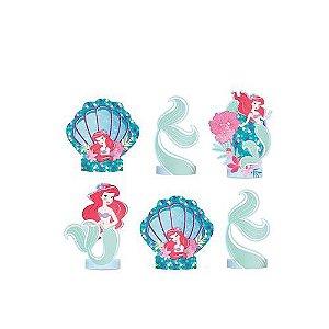 Decoração de Mesa Ariel Pequena Sereia C/6 | Regina