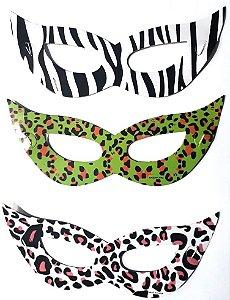 Máscara Holográfica Para Festa C/72 | Mix de Cores